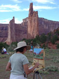 Clickable Image: Painting in Canyon de Chelly, Arizona, fall workshop, art, artwork