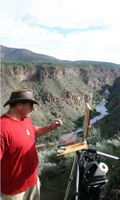 Image: Taos Art School, Plein Air Artwork at the Rio Grande