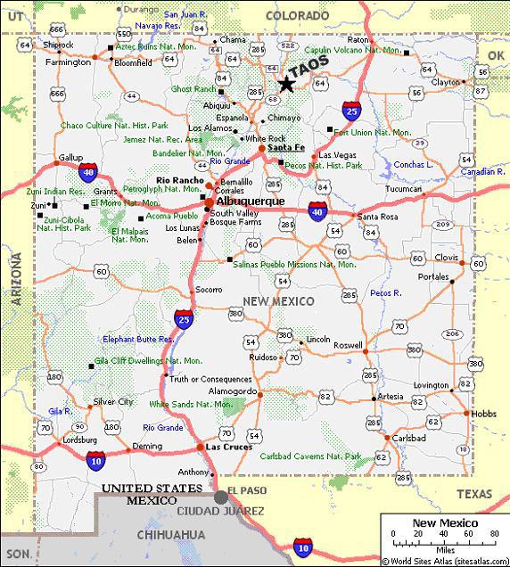 Taos Art School  Maps